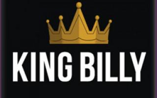 Обзор онлайн casino King Billy с хорошей отдачей