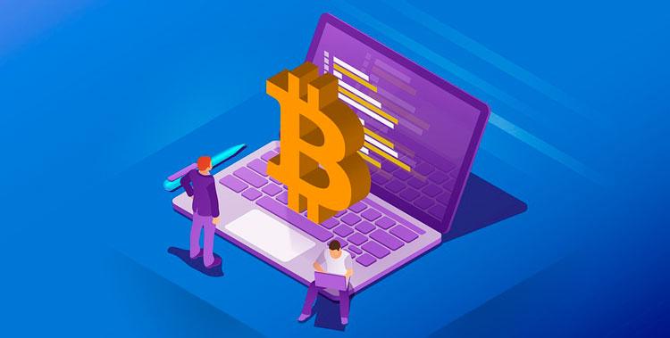 биткоин и ноутбук